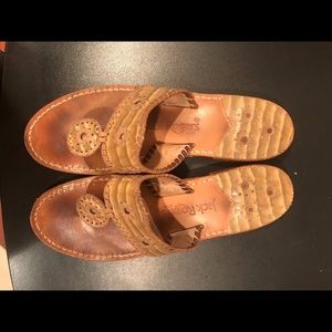 Jack Rogers Size 10 Beige Sandals